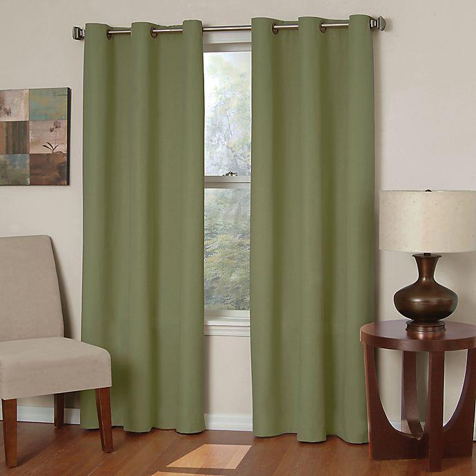 Alternate image 1 for SolarShield® Mandalay Microfiber Grommet Room Darkening Window Curtain Panels