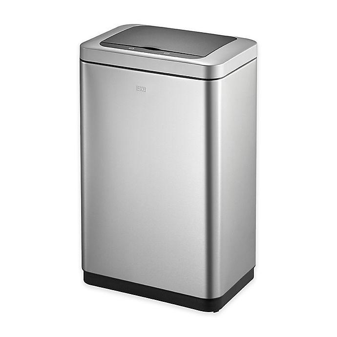 Alternate image 1 for Eko® Bravia Stainless Steel 50-Liter Motion Sensor Trash Can