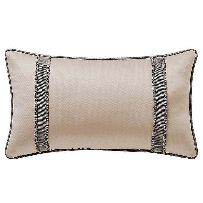 Alternate image 1 for Waterford® Dimitrios Breakfast Throw Pillow in Charcoal