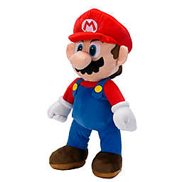 Super Mario The Real Thing Cuddle Pillow in Red/Blue