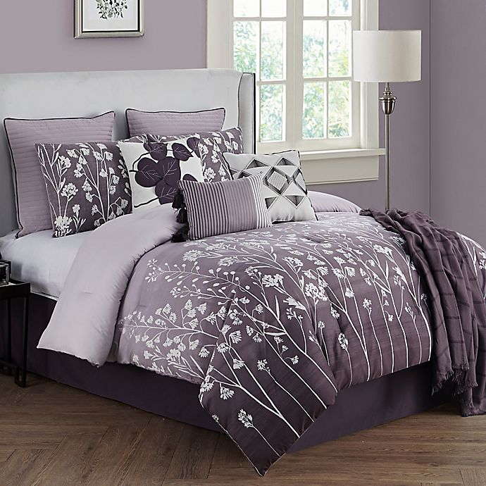 Alternate image 1 for Bethany 10-Piece Full Comforter Set in Raisin