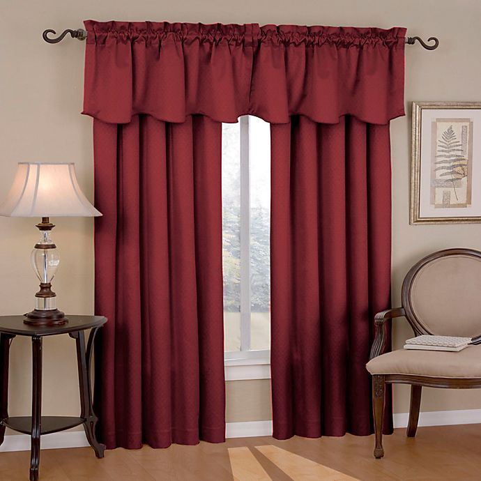 Alternate image 1 for Eclipse Canova 95-Inch Rod Pocket Room Darkening Window Curtain Panels in Burgundy
