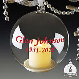 Memorial Personalized Light Up Glass Ornament