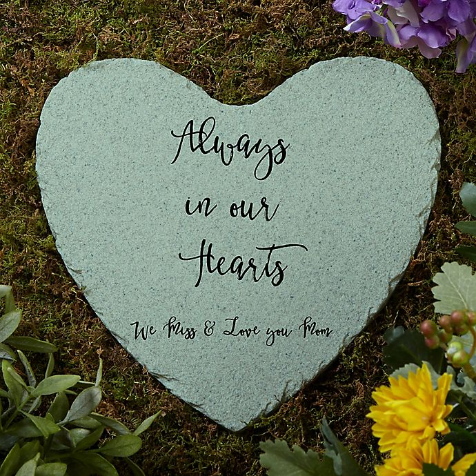 Alternate image 1 for Memorial Expressions Personalized Heart Garden Stone