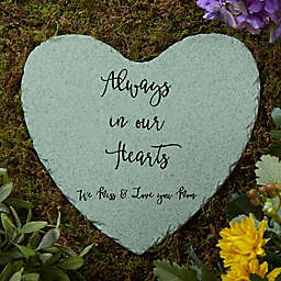 Memorial Expressions Personalized Heart Garden Stone
