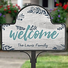 Cozy Home Personalized Magnetic Garden Sign