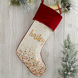 Sparkling Name Personalized Chrismtas Stockings