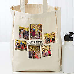 Six Photo Personalized Petite Canvas Tote Bag