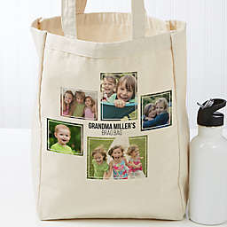 Five Photo Personalized Petite Canvas Tote Bag