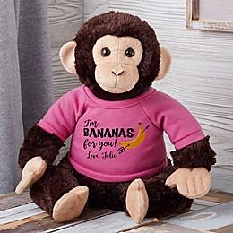Bananas For You Personalized Plush Monkey
