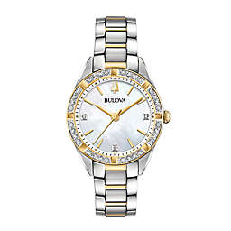 Bulova Sutton Women's 33mm 98R263 Two-Tone Diamond Watch
