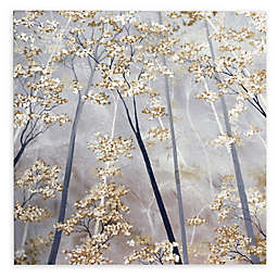 Taupe Forest Canvas Wall Art