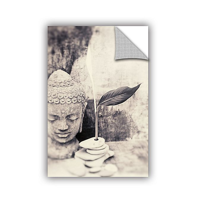 Alternate image 1 for Buddha 12-Inch x 18-Inch Wall Decal in Black/White