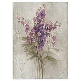 Purple Larkspur Garden Canvas Wall Art