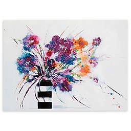 Jan Griggs Floral Stripes Canvas Wall Art