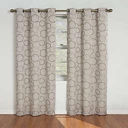 SolarShield® Sphere Grommet Room Darkening Window Curtain Panels