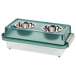 IRIS® Elevated Small Dog Feeder with Storage