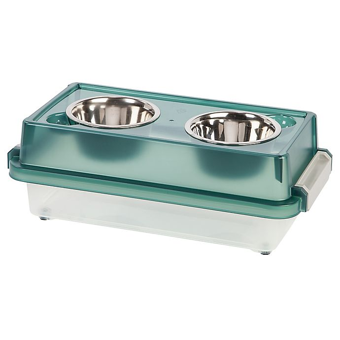 Alternate image 1 for IRIS® Elevated Small Dog Feeder with Storage