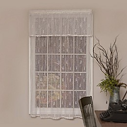 Heritage Lace® Pineapple Trimmed Rod Pocket Window Curtain Panel