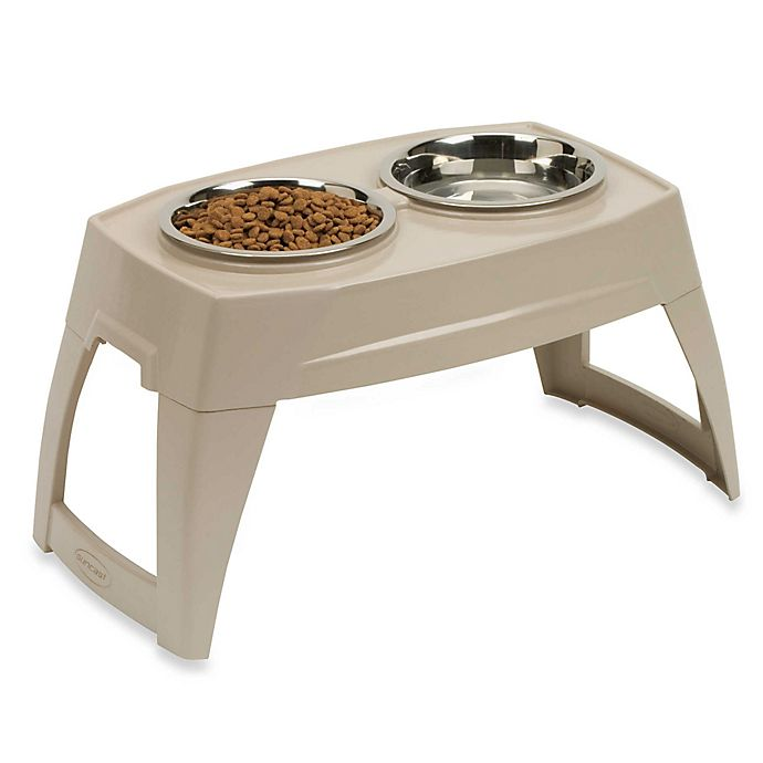 Alternate image 1 for Suncast® Small Elevated Feeding Tray With Stainless Steel Bowls
