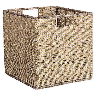 Design Imports Seagrass Cube Storage Bin