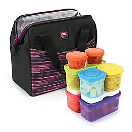 California Innovations High Performance Lunch Bag with 16-Piece Container Set