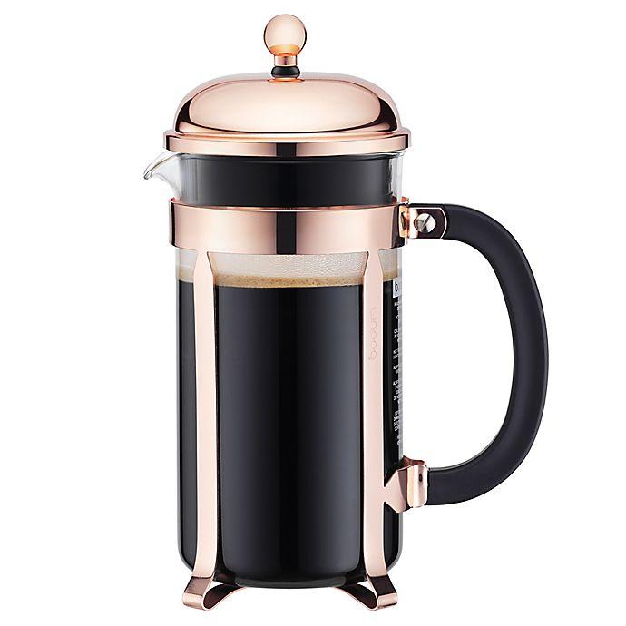Chambord Bodum® OzFrench 34 Press In CopperBed Coffee Maker PkiuOXZ