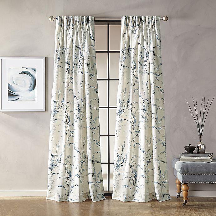 Alternate image 1 for Botanical 63-Inch Grommet Window Curtain Panel in Indigo