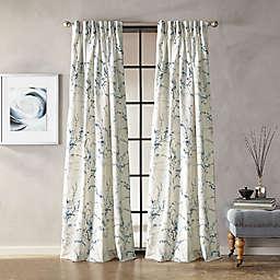 Botanical Grommet Window Curtain Panel