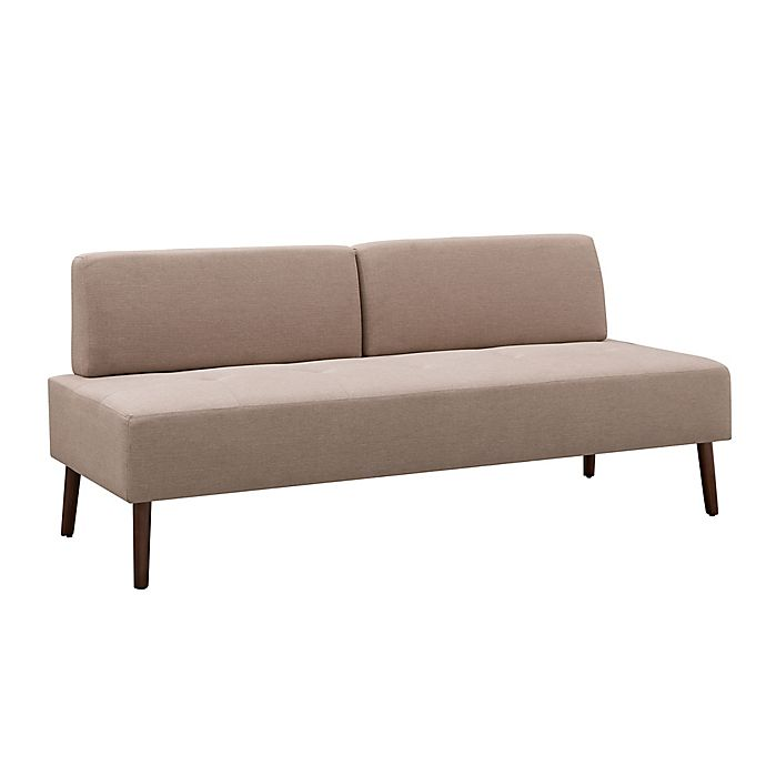 Alternate image 1 for Southern Enterprises Altus Small Armless Sofa in Warm Sand