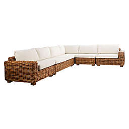 Safavieh Malibu 5-Piece Sectional Sofa in Natural/Beige