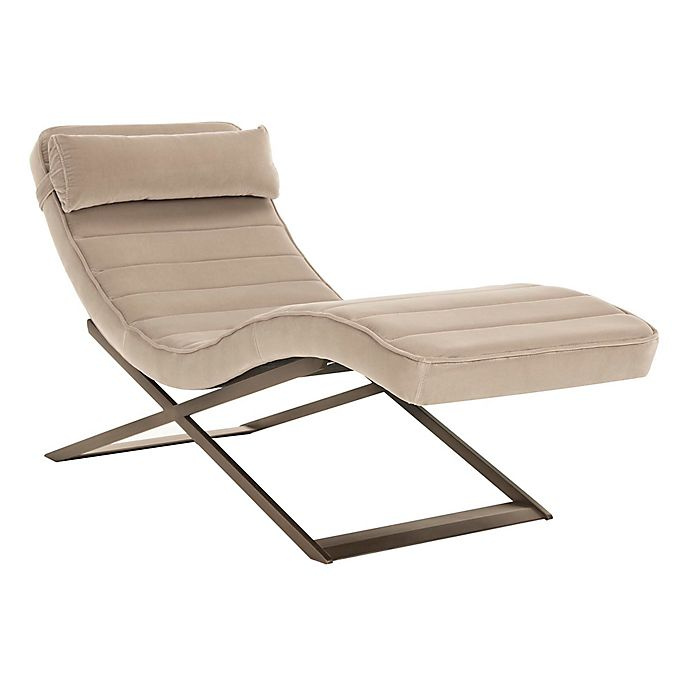 Terrific Safavieh Mandalay Chaise In Almond Bed Bath Beyond Unemploymentrelief Wooden Chair Designs For Living Room Unemploymentrelieforg