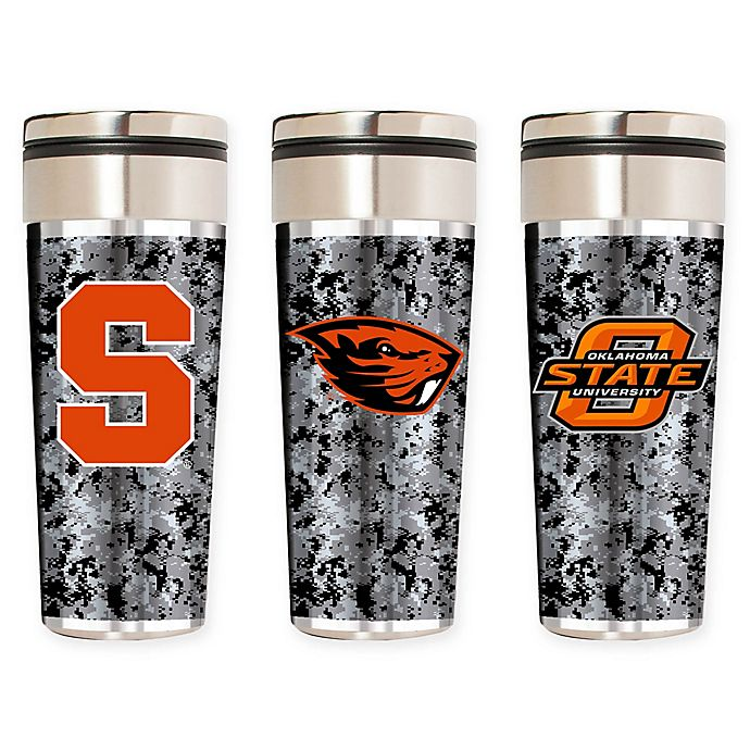 Alternate image 1 for Collegiate Operation Hat Trick™ 22 oz. Stainless Steel Travel Tumbler Collection