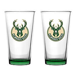 NBA Embossed Pint Glasses (Set of 2)
