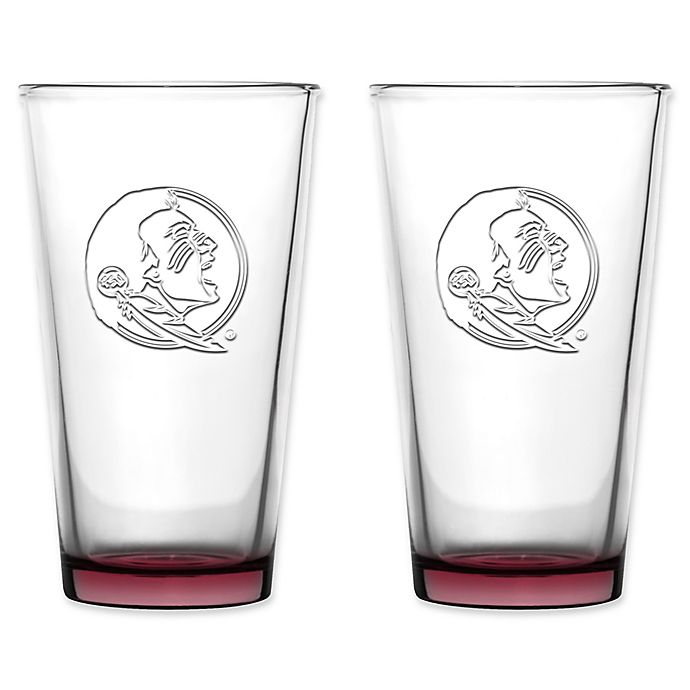 Alternate image 1 for Collegiate Embossed Pint Glasses (Set of 2) Collection