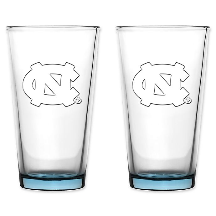Alternate image 1 for University of North Carolina Embossed Pint Glasses (Set of 2)