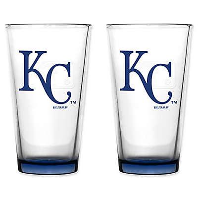 MLB Kansas City Royals Embossed Pint Glasses (Set of 2)