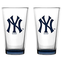 MLB Embossed Pint Glasses (Set of 2) Collection