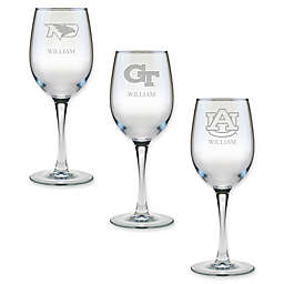 Collegiate 12 oz. Personalized Wine Glass Collection