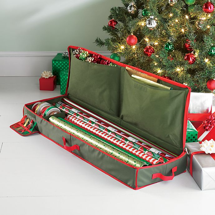 Alternate image 1 for Real Simple® Holiday Gift Wrap Under Bed Wrapping Paper Storage
