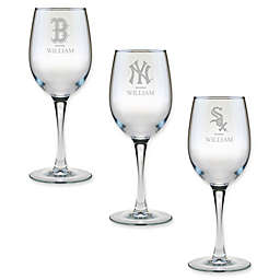 MLB 12 oz. Personalized Wine Glass Collection