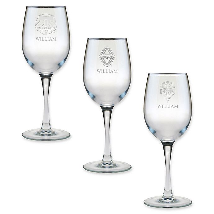 Alternate image 1 for MLS 12 oz. Personalized Wine Glass Collection