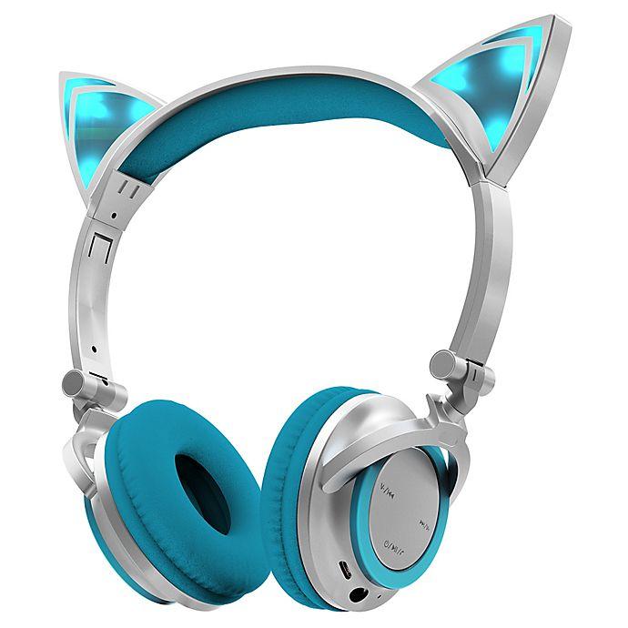 Sharper Image Bluetooth Wireless Earbuds: Sharper Image™ LED Cat Ear Bluetooth Headphones