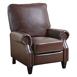 Abbyson Living® Cliff Leather Pushback Recliner