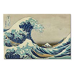 The Great Wave Off Kanagawa 8-Inch x 12-Inch Canvas Wall Art