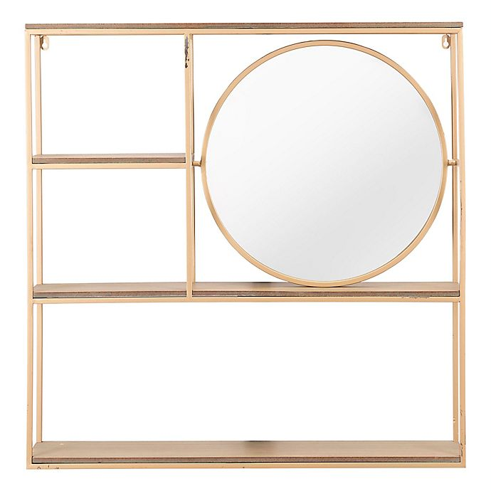 Alternate image 1 for Zuo® Veo Shelf Wall Decor in Gold