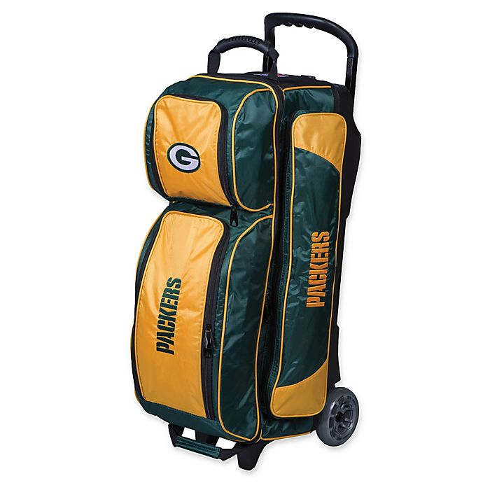 Alternate image 1 for NFL Green Bay Packers Triple Roller Bowling Bag