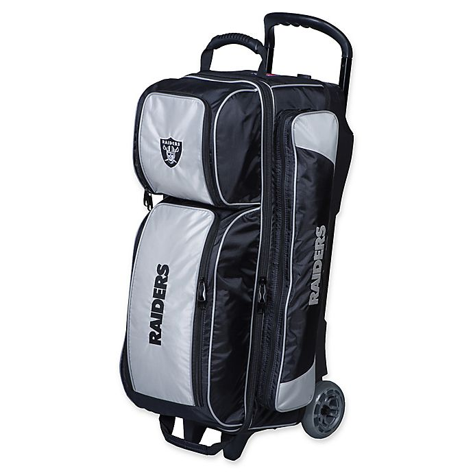 Alternate image 1 for NFL Oakland Raiders Triple Roller Bowling Bag