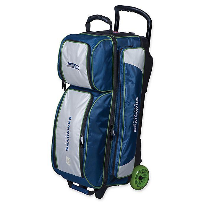 Alternate image 1 for NFL Seattle Seahawks Triple Roller Bowling Bag