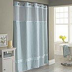 Hookless® Escape 71-Inch x 74-Inch Fabric Shower Curtain and Shower Curtain Liner Set in Blue